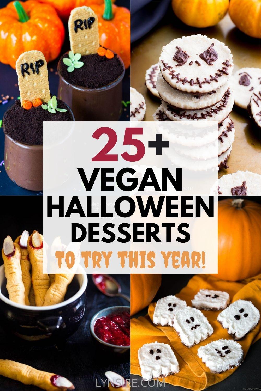 Vegan halloween desserts