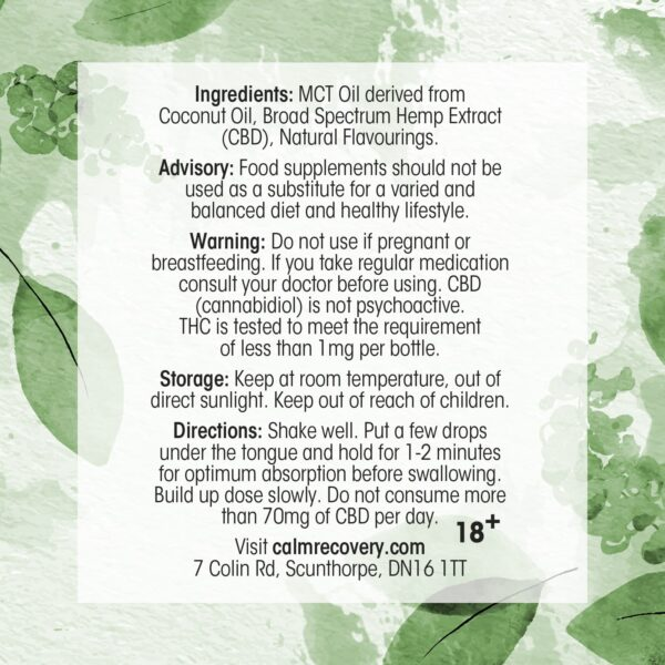 CBD Oil 10ml 20% 2000mg Mouth-watering Mint