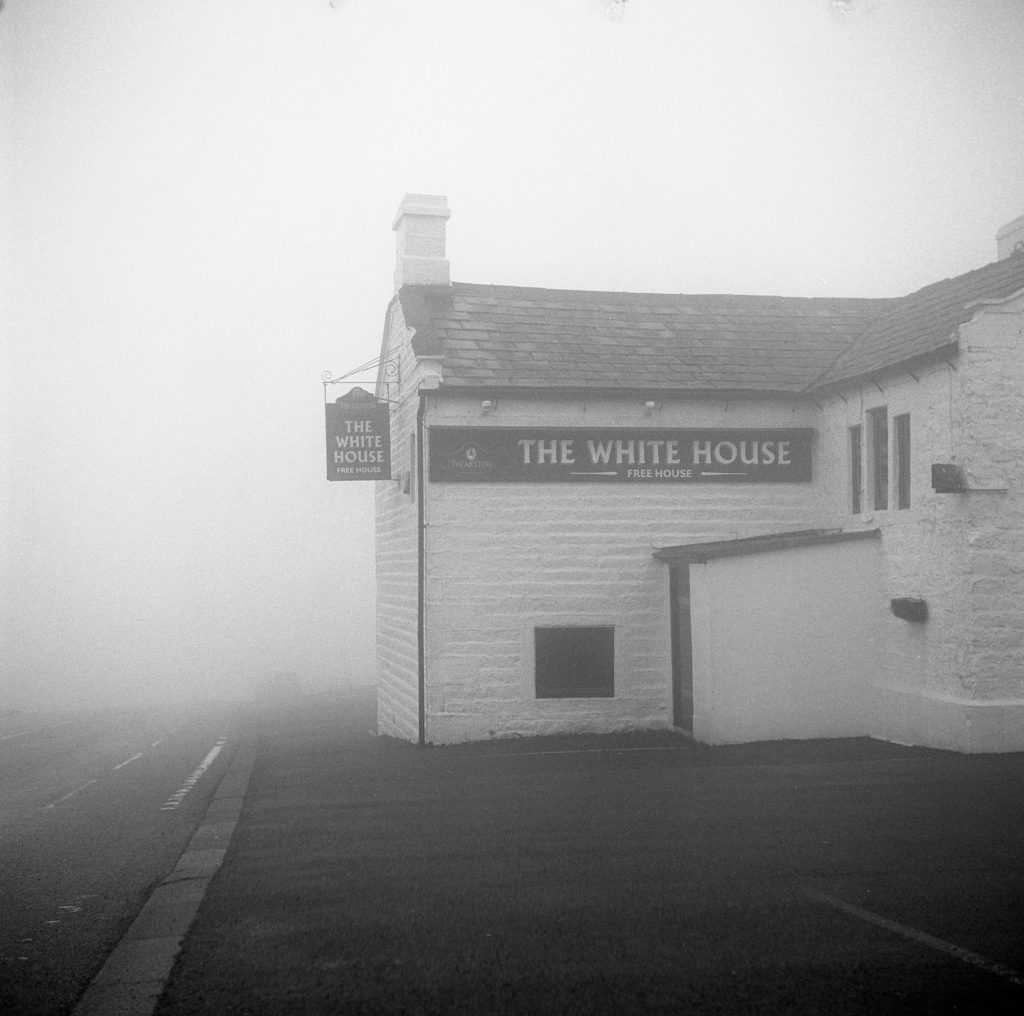 The White Horse, Blackstone Edge Moor, Yorkshire, 2018. Yashica 635 & Kodak T-Max 400 in Ilford DDX