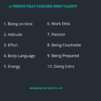 Wise Wednesdays: Things that require zero talent or money