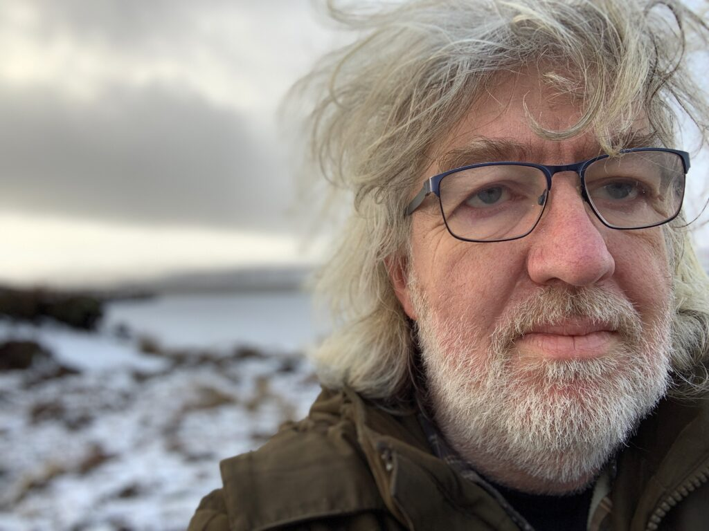 Bill Thompson in a snowy landscape