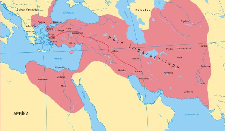 Pers İmparatorluğu Haritası