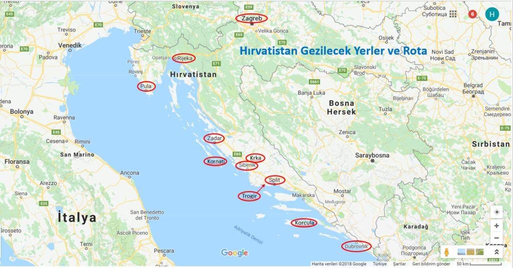 Hırvatistan Gezilecek Yerler ve Hırvatistan Gezi Rotası
