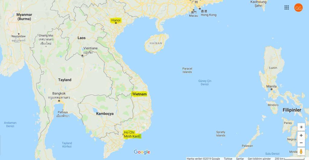 Vietnam Nerede ve Vietnam'ın Komşuları