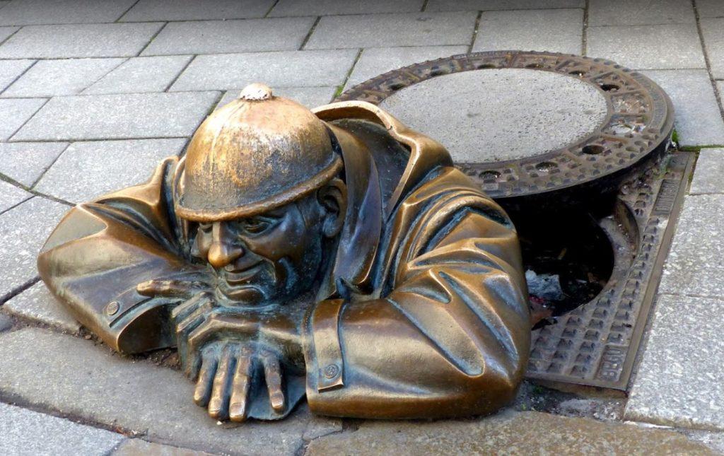 Bratislava Man at Work