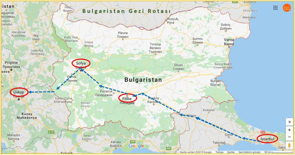Bulgaristan Gezi Rotası