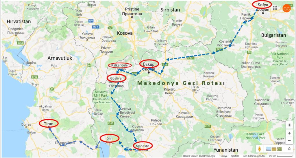 Makedonya Gezi Rotası