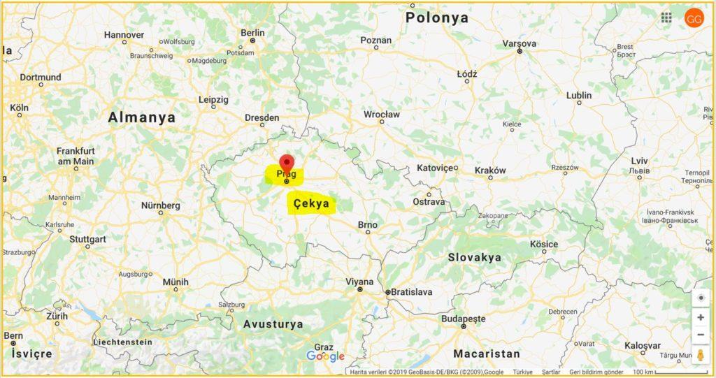 Prag ve Çekya'nın Haritadaki Yeri, Çekya'nın Komşuları