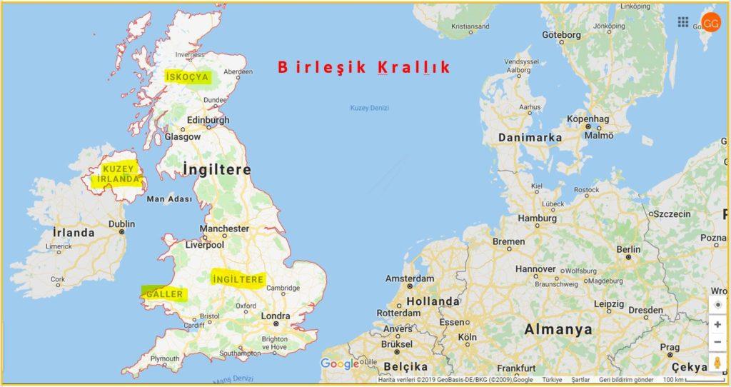 Büyük Britanya Ülkeleri, Birleşik Krallık ve İrlanda