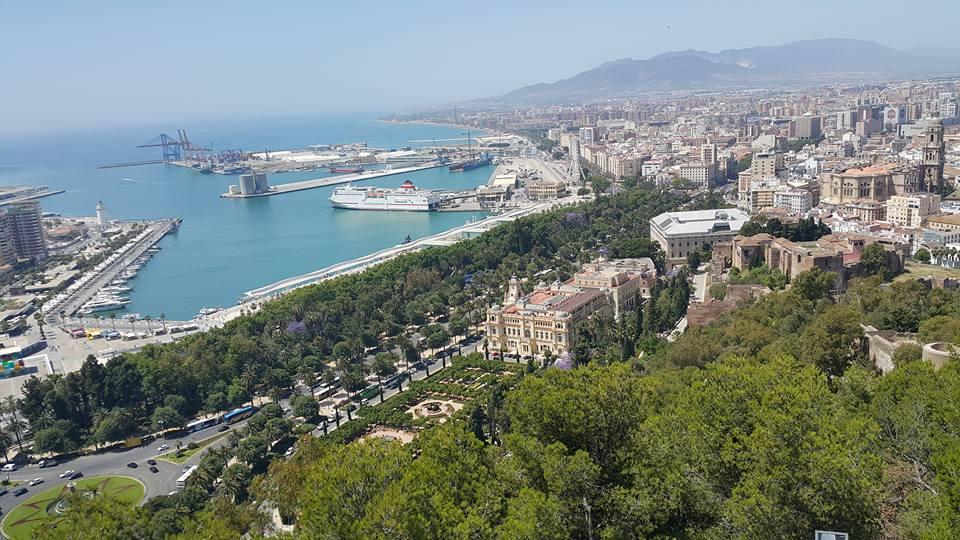 Malaga'nın Kaleden Görünümü