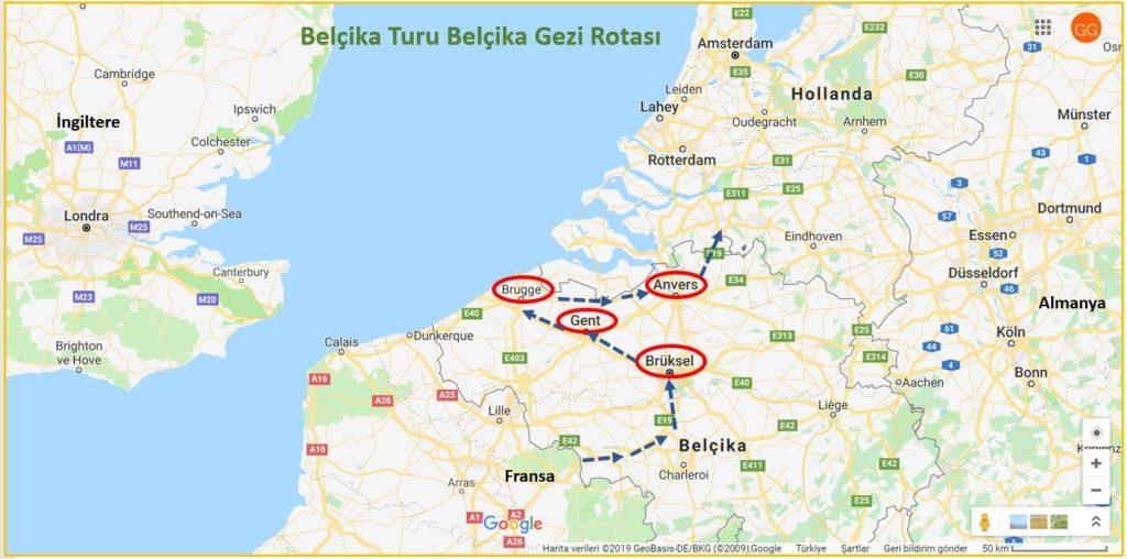 Belçika Turu Belçika Gezi Rotası