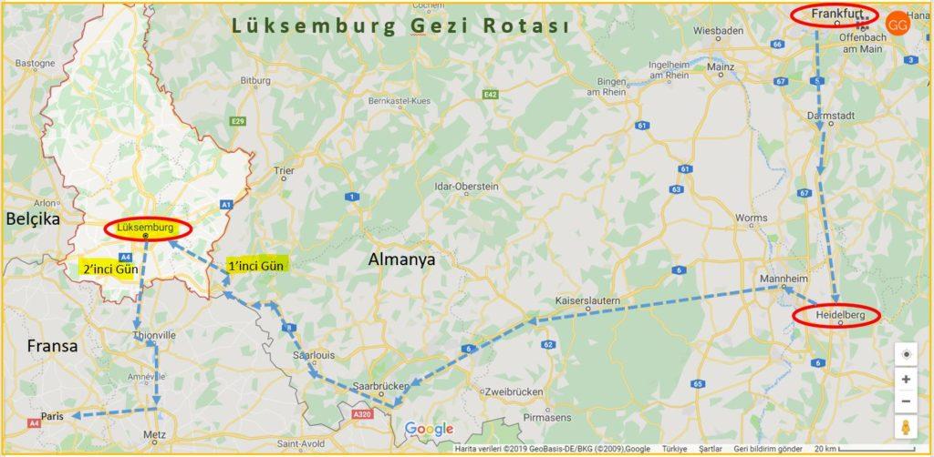 Lüksemburg Turu Gezi Rotası