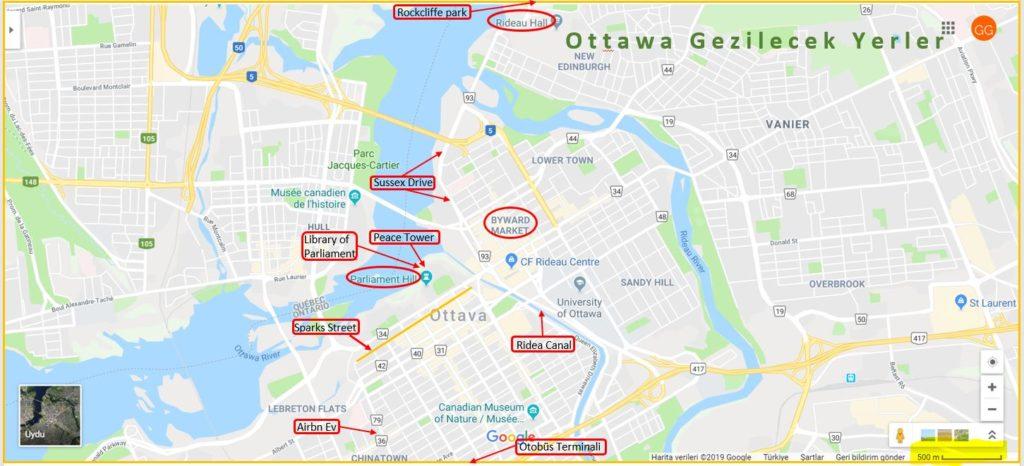 Ottawa Gezilecek Yerler