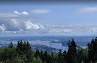 Cypress Mountain Yolu Üzerinden Vancouver'ın Görünümü