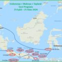 Endonezya Malezya Tayland Gezi Programı Haritası