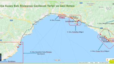 Kuzeybatı İtalya Rivierası Rota