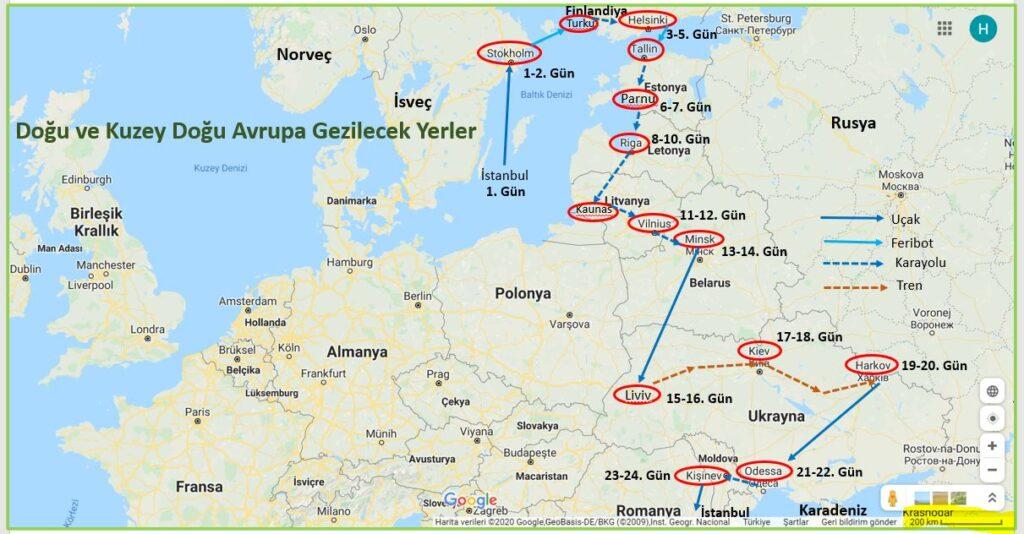 Baltık Ülkeleri, İskandinavya ve Doğu Avrupa Gezi Programı