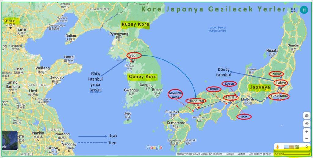 Japonya Gezi Programı Kapsamında Kore Japonya Gezilecek Yerler