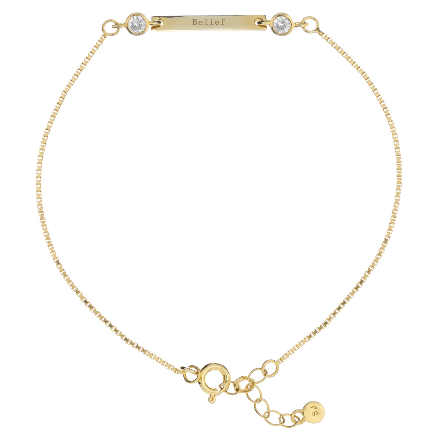 Synergy Sister friendship bracelet in gold-plated with message of belief