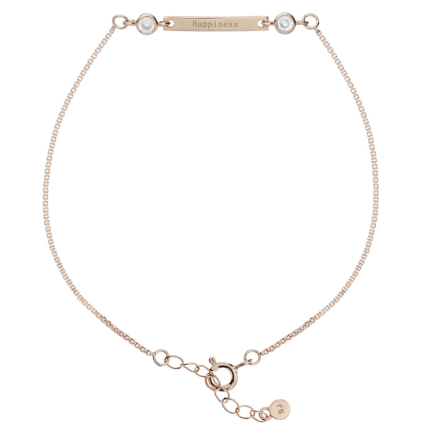 Synergy Sister Friendship Bracelet in Rose Gold with Happiness message