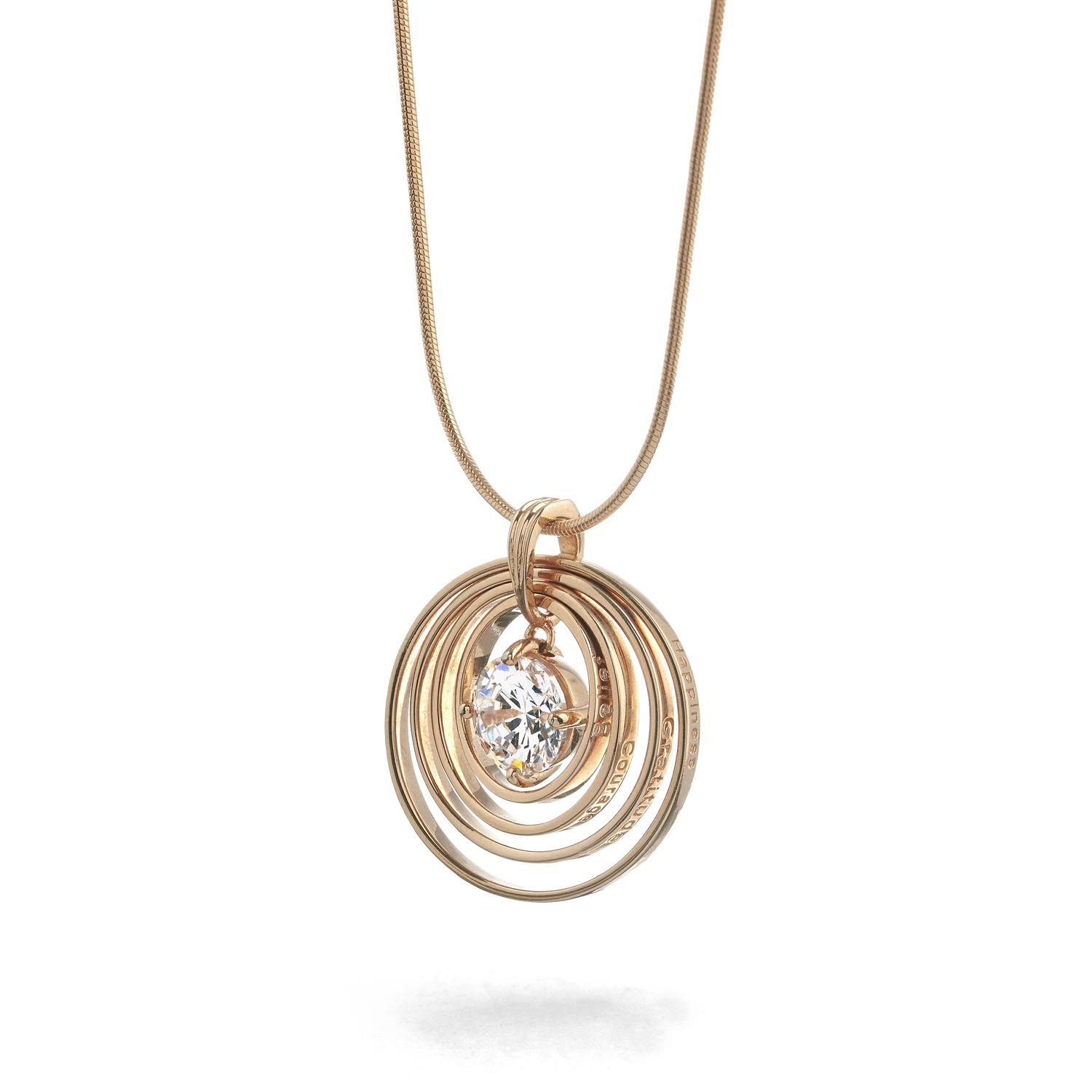 The complete synergy necklace in rose gold
