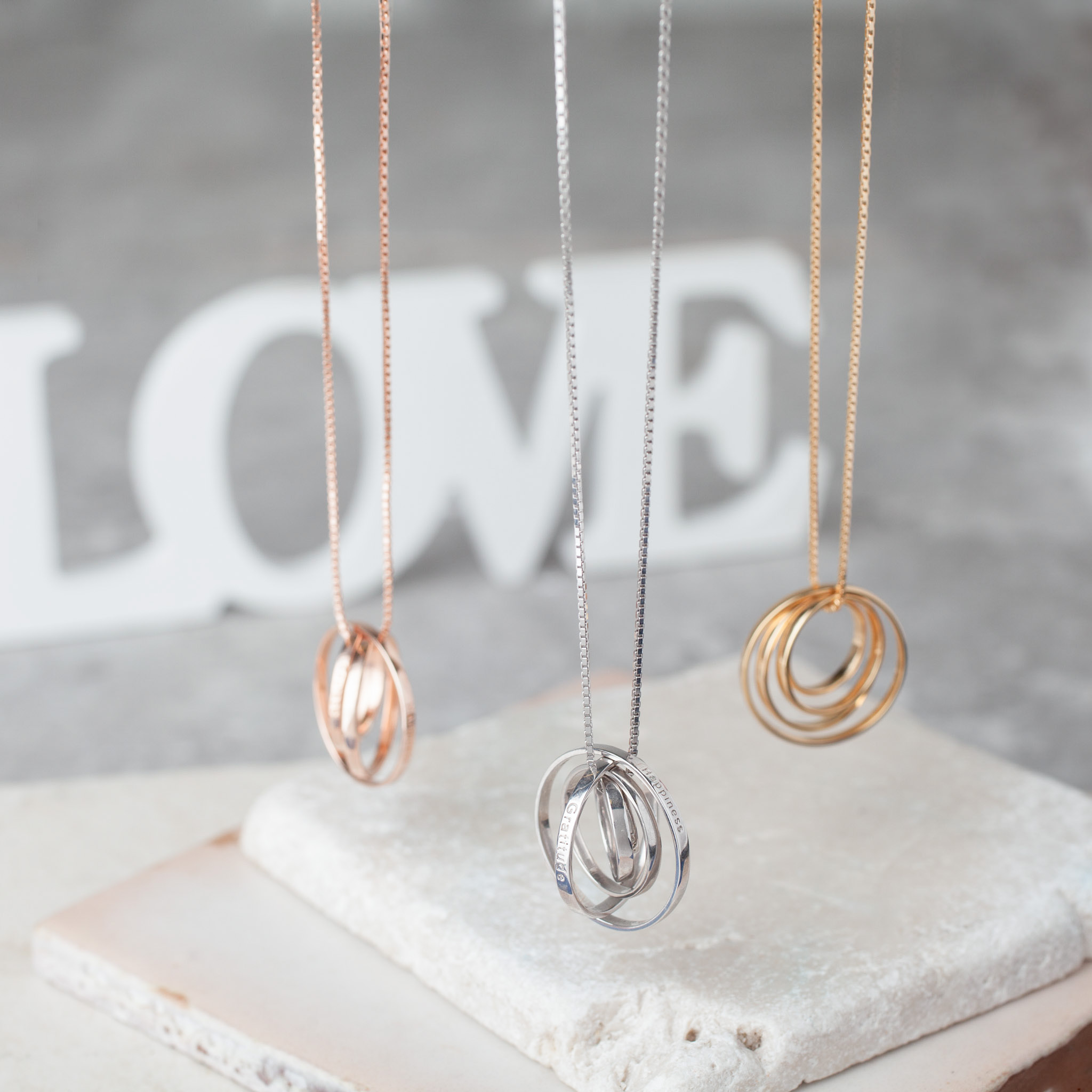 Synergy Circle Necklaces