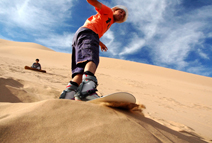 sand boarding in desert safari