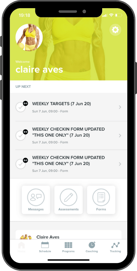 Claire Aves Fitness App