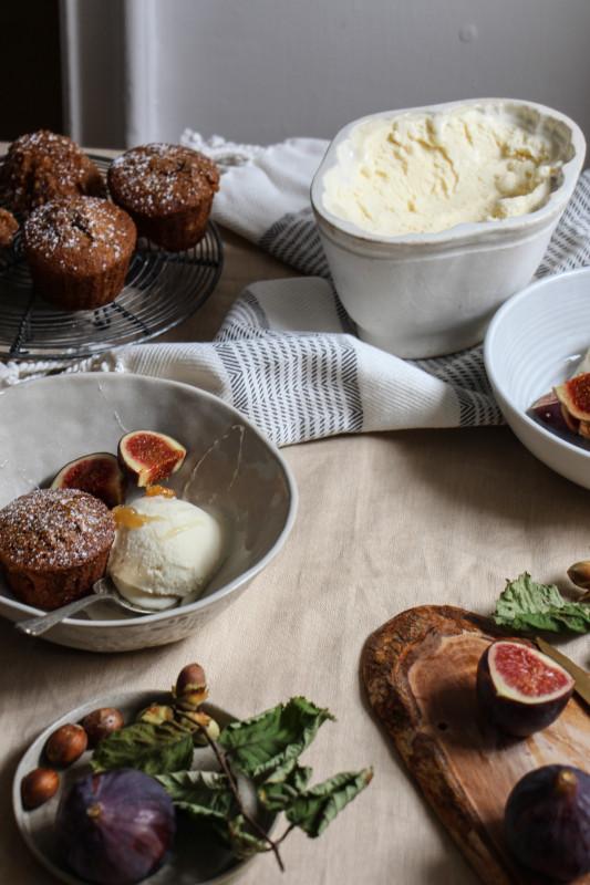 buckwheat hazelnut cakes ricotta icecream -1-15