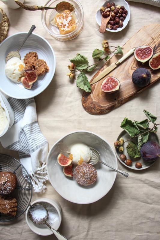 buckwheat hazelnut cakes ricotta icecream -1-16