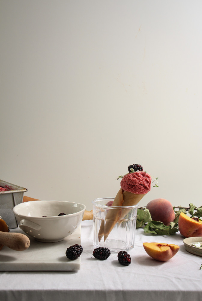 peach blackberry sherbet and cones-1-13