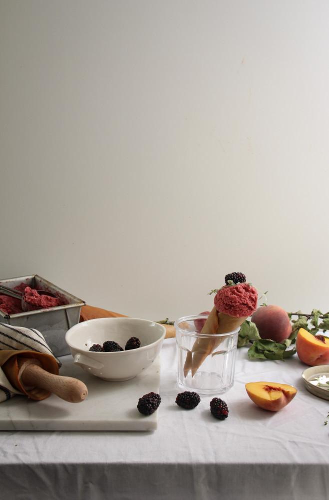 peach blackberry sherbet and cones-1-14