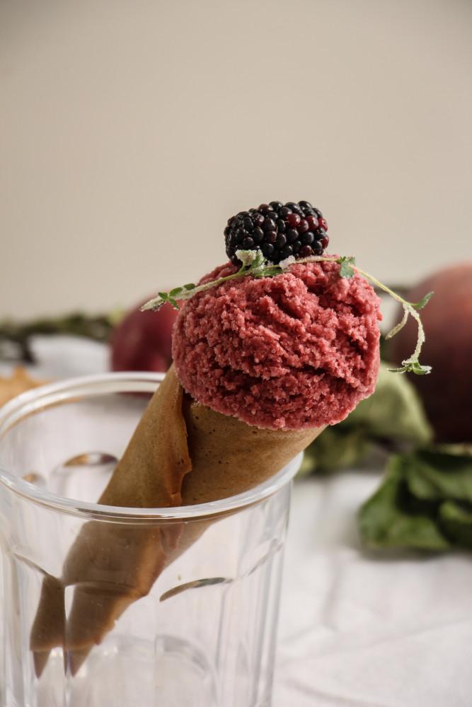peach blackberry sherbet and cones-1-16