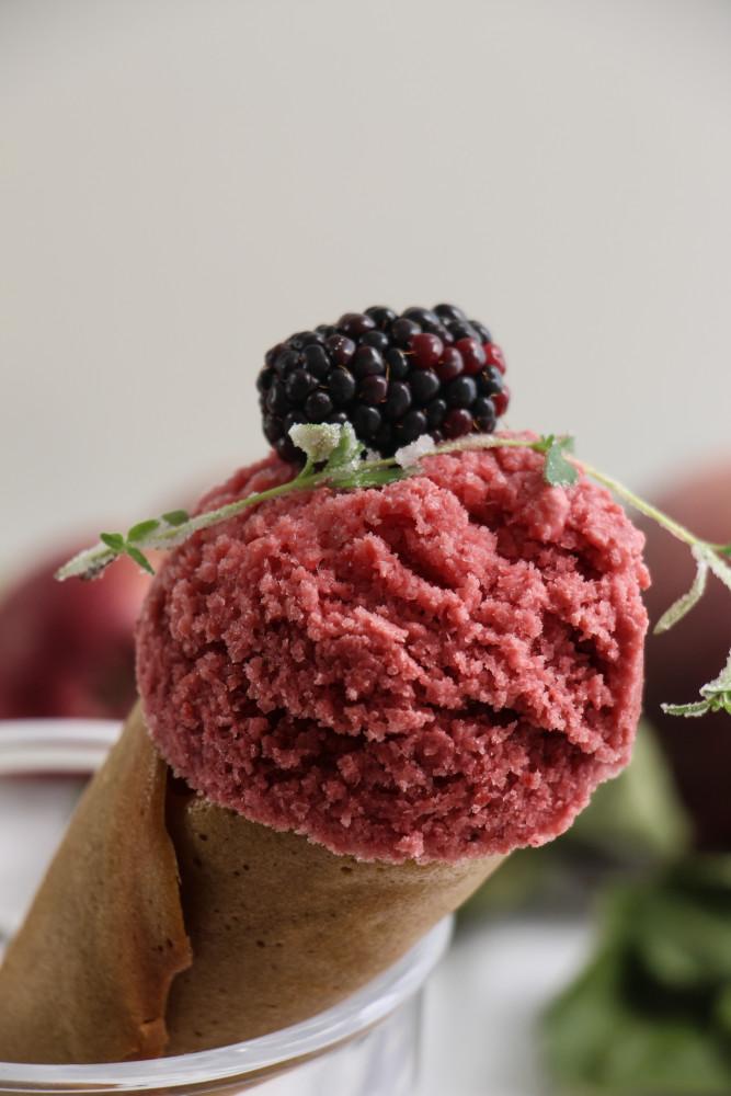 peach blackberry sherbet and cones-1-17