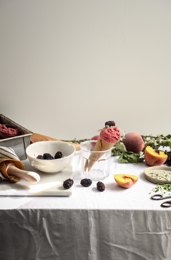 peach blackberry sherbet and cones-1-21