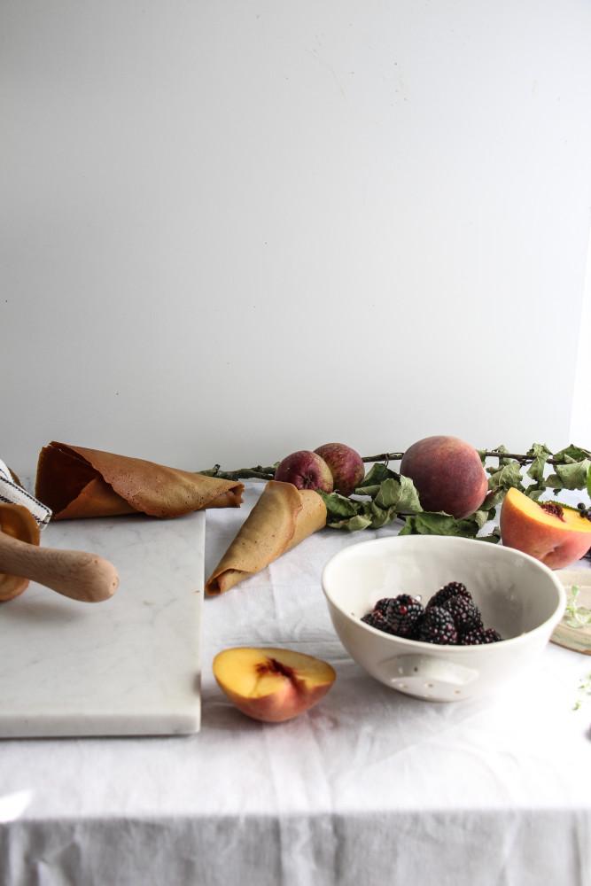 peach blackberry sherbet and cones-1-4