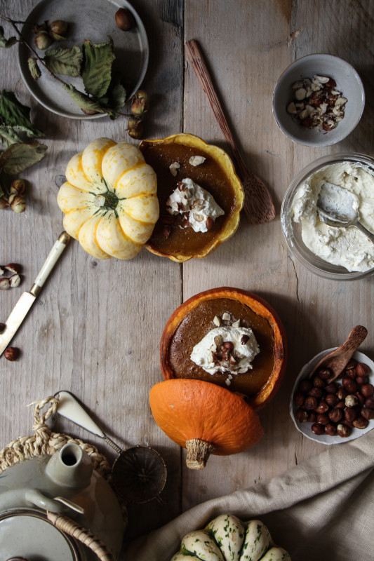 pumpkin pies baked inside squashes-1-10