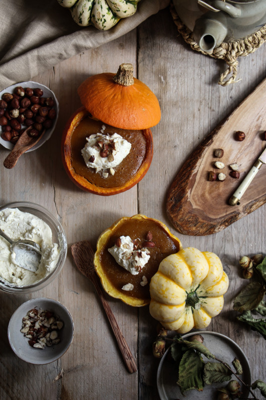 pumpkin pies baked inside squashes-1-13