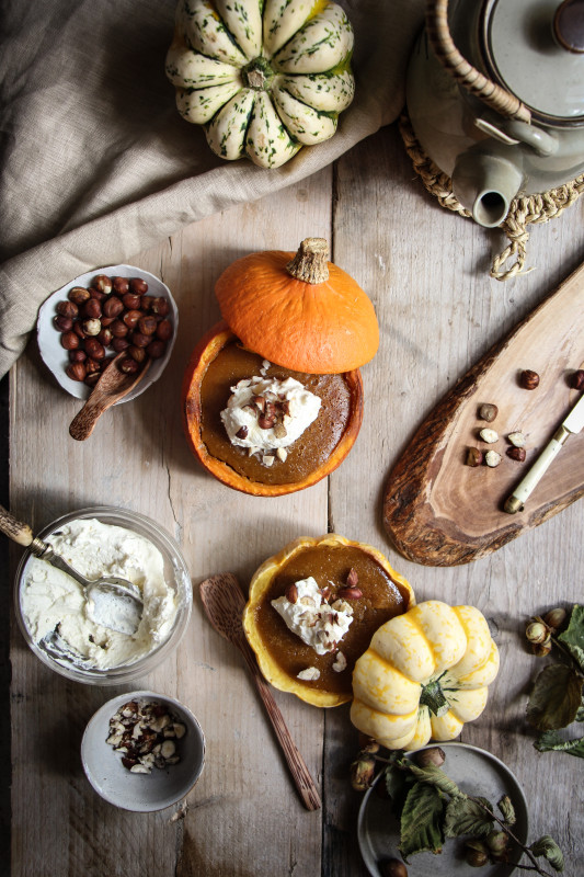 pumpkin pies baked inside squashes-1-16