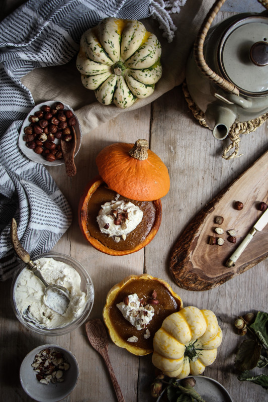 pumpkin pies baked inside squashes-1-24