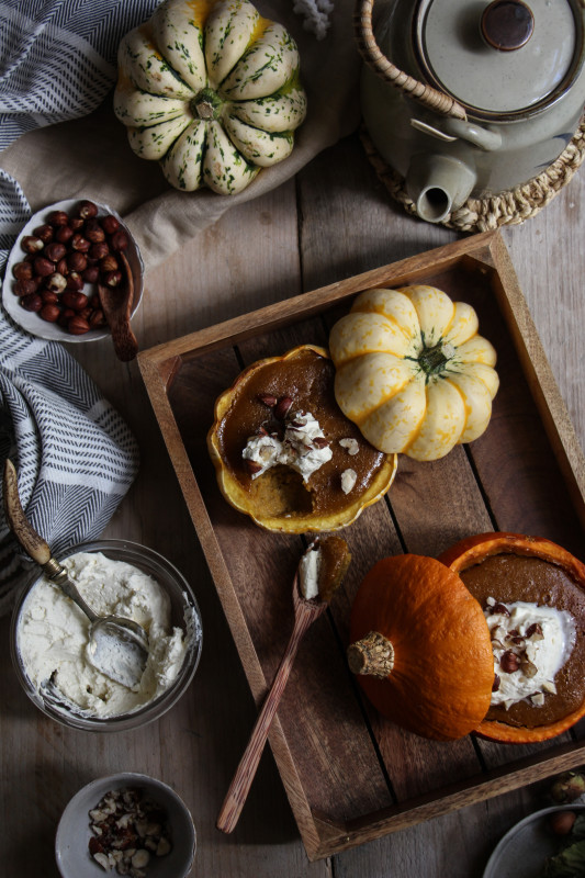 pumpkin pies baked inside squashes-1-26