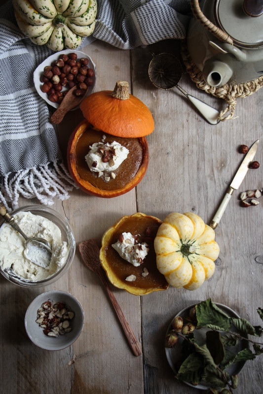 pumpkin pies baked inside squashes-1-8
