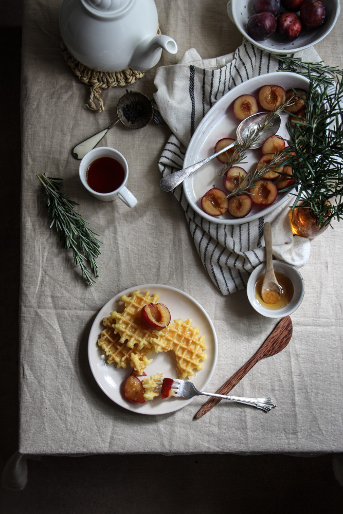 rosemary roasted plums and waffles-1-8