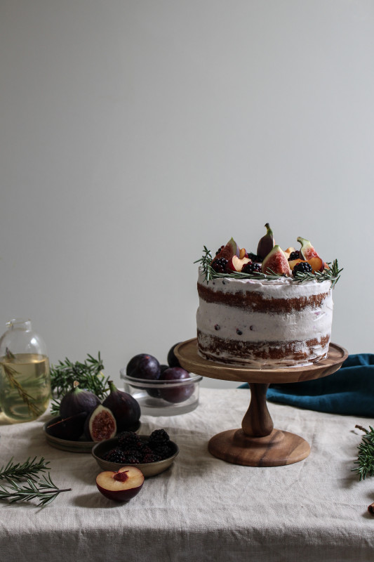 black tea poached plum and fig cake-1-11