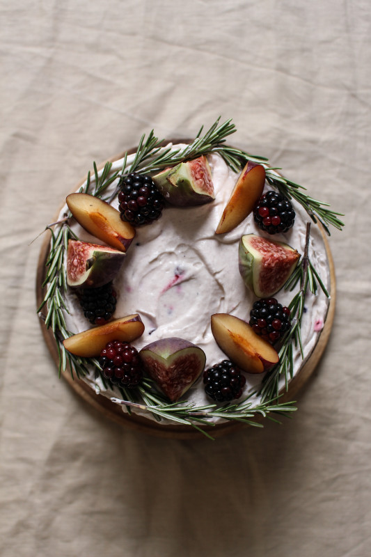 black tea poached plum and fig cake-1-2