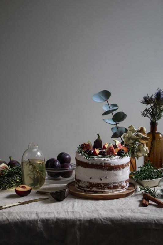 black tea poached plum and fig cake-1-22