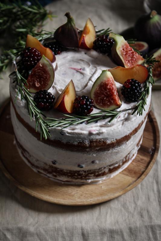 black tea poached plum and fig cake-1-23