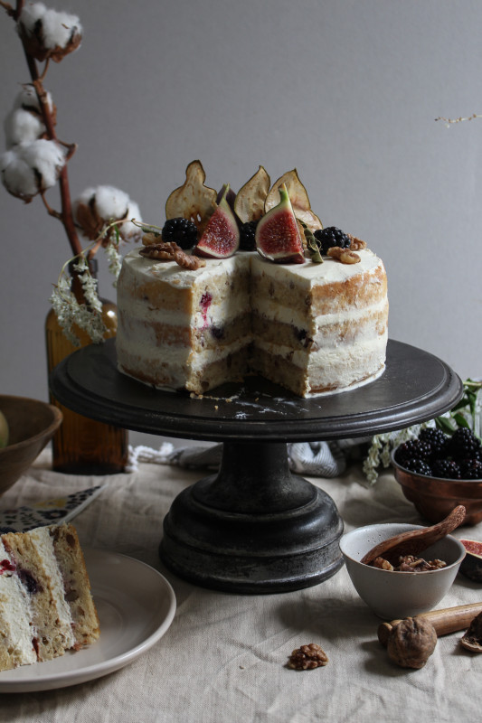 blackberry pear and walnut cake with fig verbina jam-1-15