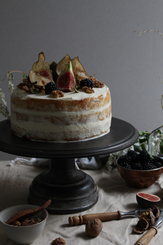 blackberry pear and walnut cake with fig verbina jam-1-24