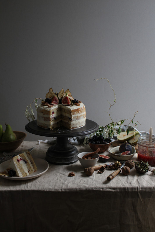 blackberry pear and walnut cake with fig verbina jam-1-4